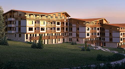 """Gebäudekomplex """"Green Life"""", Gemeinde """"Koscherinata"""" Stadt Bansko"""